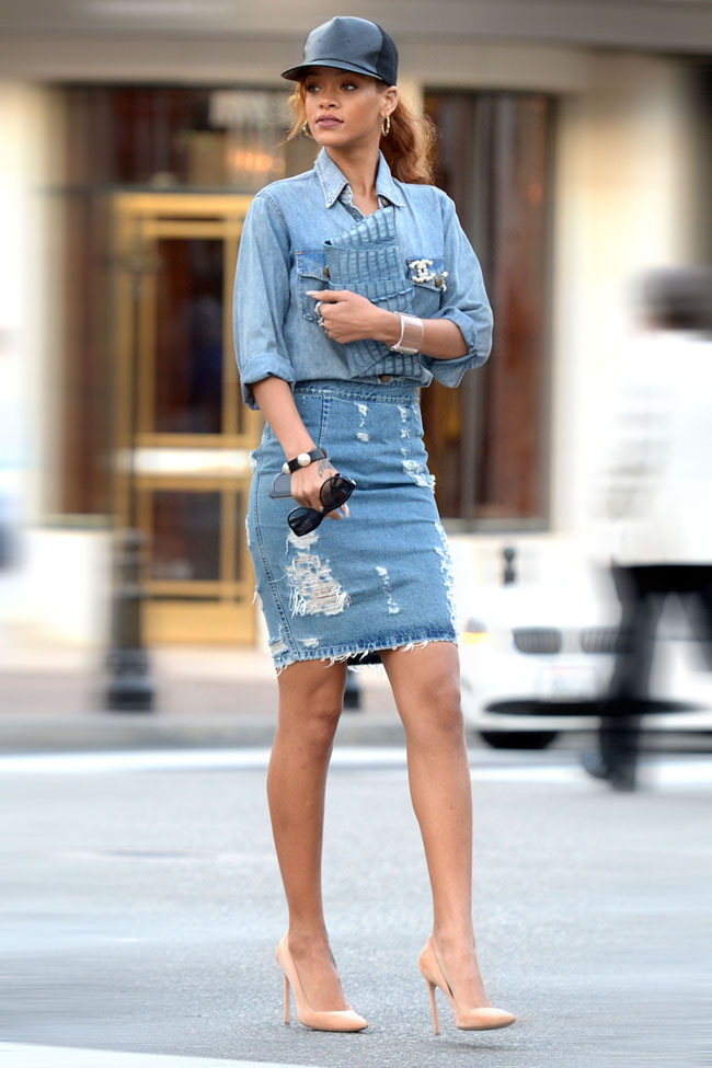 Rihanna shops in four fashion stores on Rodeo Drive
