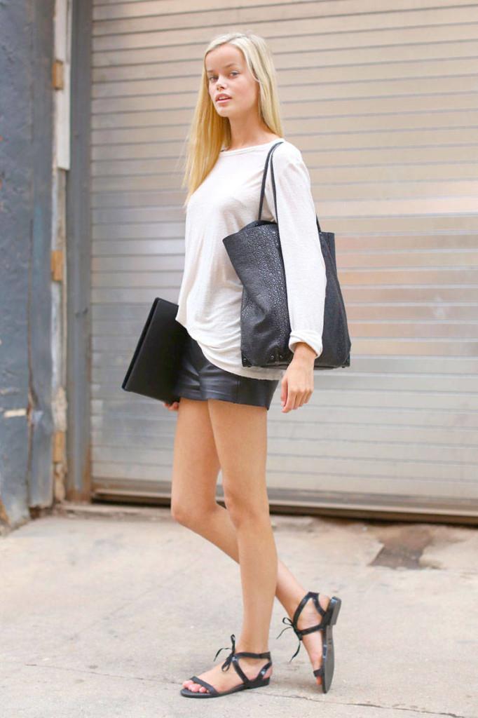 09-Model-street-style-NYFW-2013-leather-shorts-xln-xln