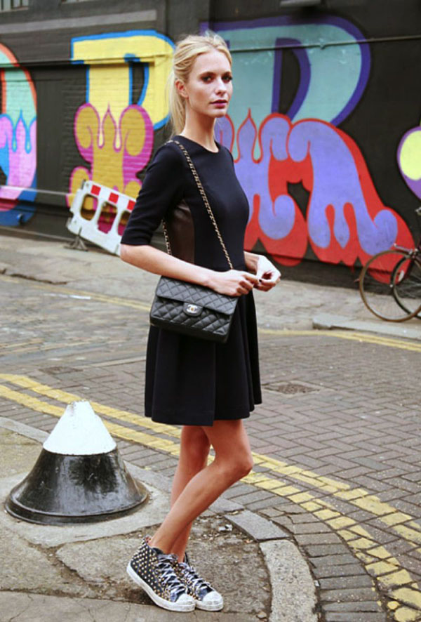 little-black-dress-with-sneakers