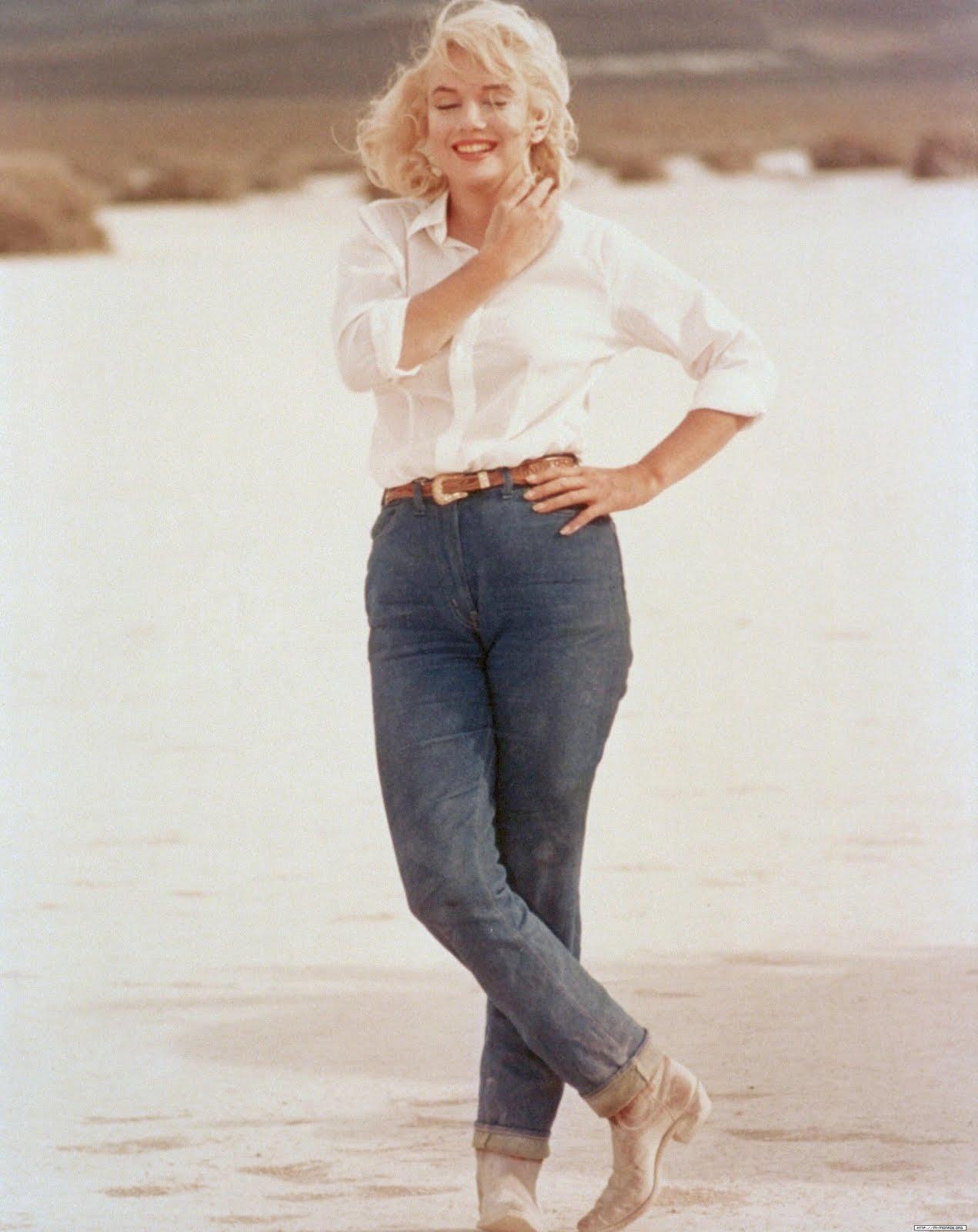Marilyn Monroe in jeans