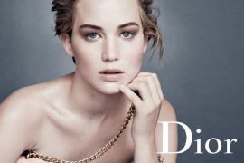 Дженнифер Лоуренс в рекламной кампании сумок Miss Dior
