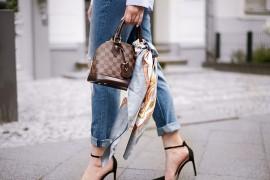 Платок на сумку – стильный минимализм