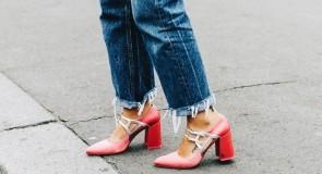 С чем носить туфли на толстом каблуке: лучшие идеи 2018